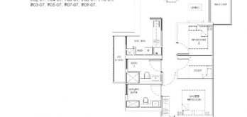 mont-botanik-residence-2-bedroom-plus-study-floor-plan-a4-singapore